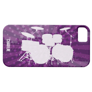 Grunge Drums Purple Burst Barely There iPhone 5 Case