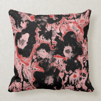 Grunge ebru themed design throw pillow