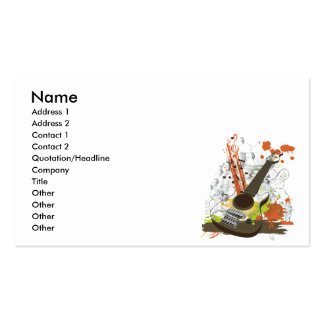 grunge electric guitar pack of standard business cards