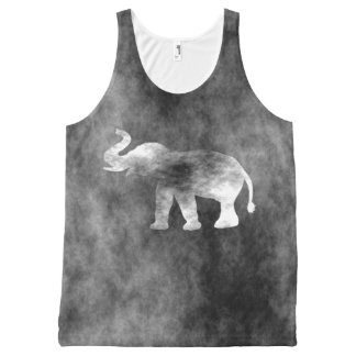 Grunge Elephant All-Over Print Tank Top