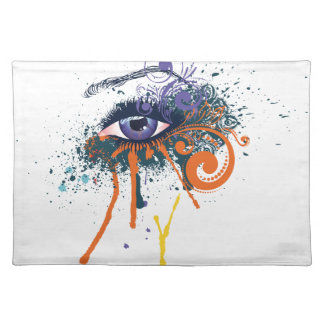 Grunge Fashion Eye Placemat