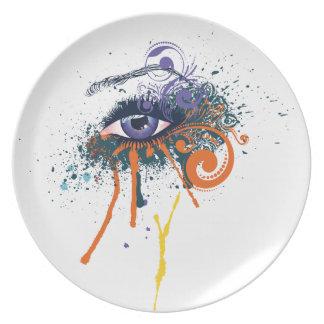 Grunge Fashion Eye Plate