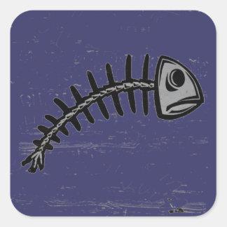 grunge fishbone sticker