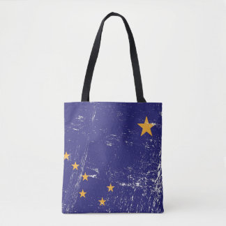 Grunge Flag of Alaska Tote Bag