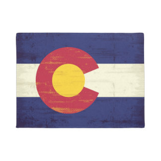 Grunge Flag of Colorado Doormat