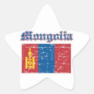 Grunge Flag of Mongolia Sticker