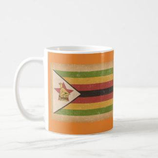 Grunge Flag of Zimbabwe Coffee Mug