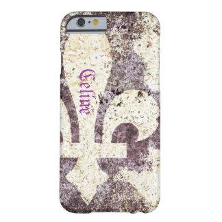 Grunge fleur de lis phone case