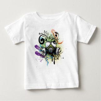 Grunge Floral Gas Mask2 Baby T-Shirt