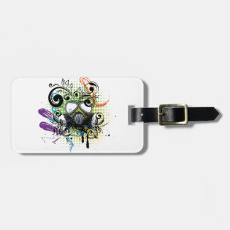 Grunge Floral Gas Mask2 Luggage Tag