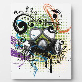 Grunge Floral Gas Mask2 Plaque