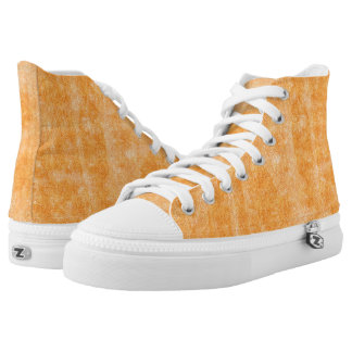 Grunge FLoral High Top SHoe Design Printed Shoes