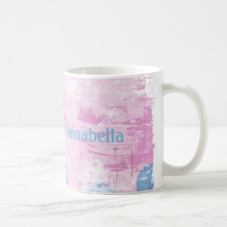 Grunge Floral Basic White Mug