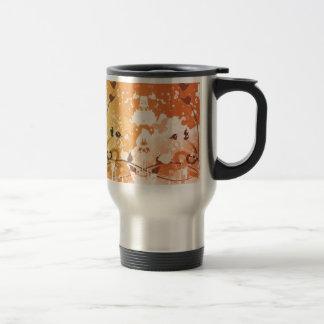 Grunge Floral Stainless Steel Travel Mug