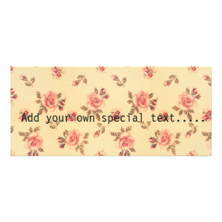 Grunge floral vintage victorian shabby chic peach personalized rack card