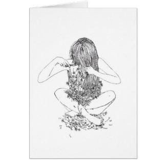 Grunge Flowers Illustration Card
