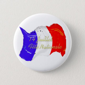 Grunge French Flag Button