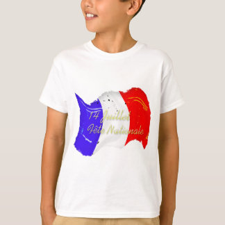 Grunge French Flag Kids T-Shirt