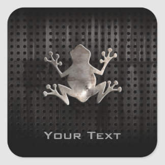 Grunge Frog Square Stickers
