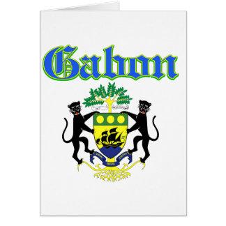 Grunge Gabon coat of arms designs Card
