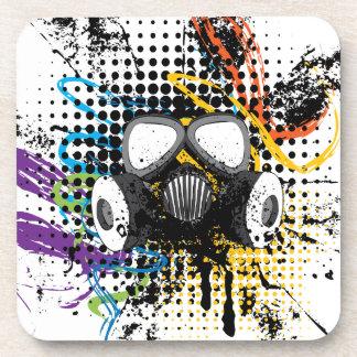 Grunge Gas Mask3 Coaster