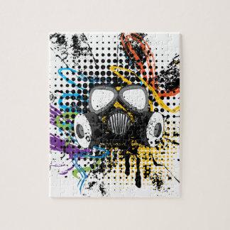 Grunge Gas Mask3 Jigsaw Puzzle