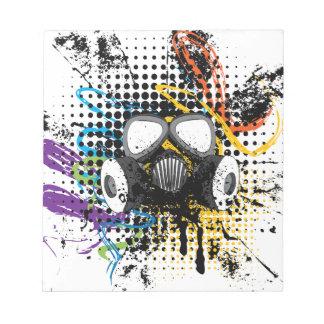Grunge Gas Mask3 Notepad