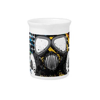 Grunge Gas Mask3 Pitcher