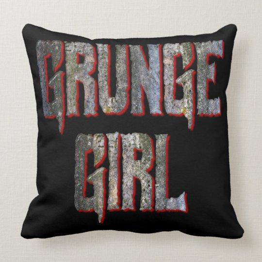 Grunge Girl Throw Pillow