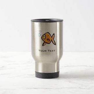 Grunge Goldfish 15 Oz Stainless Steel Travel Mug