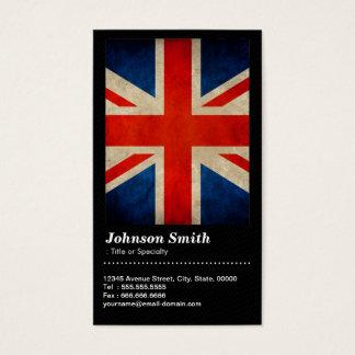 Grunge Great Britain UK Flag Union Jack - QR Code Business Card