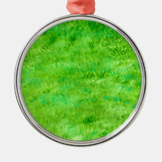 Grunge Green Background2 Metal Ornament
