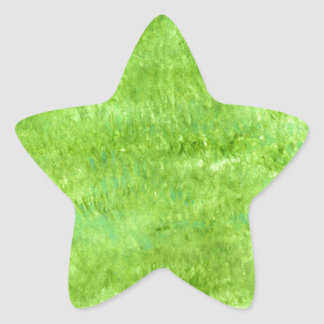 Grunge Green Background2 Star Sticker