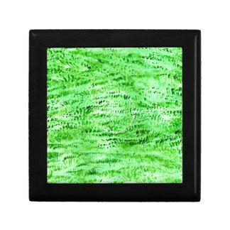 Grunge Green Background Gift Box