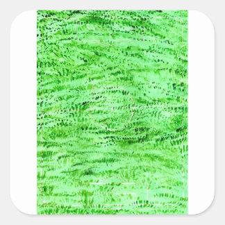 Grunge Green Background Square Sticker