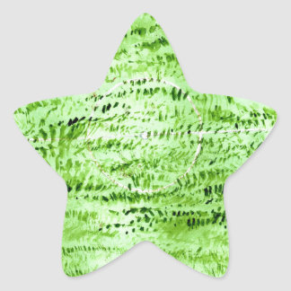 Grunge Green Background Star Sticker