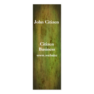 Grunge green leather look texture business card template