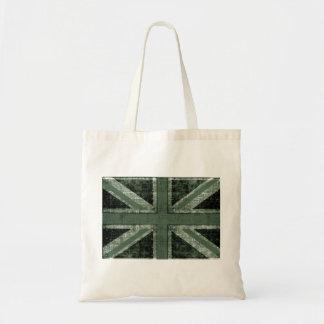 grunge green UK flag design