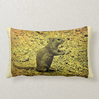 Grunge Ground Squirrel Lumbar Cushion