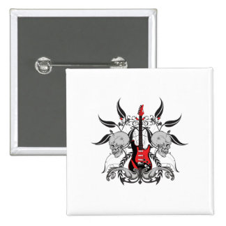 Grunge Guitar 15 Cm Square Badge