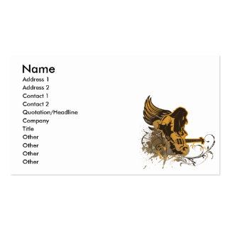 grunge guitar angel dude pack of standard business cards