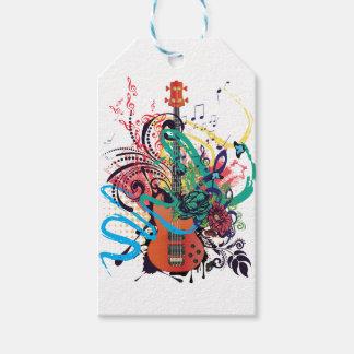 Grunge Guitar Illustration 2 Gift Tags