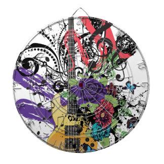 Grunge Guitar Illustration 3 Dartboard