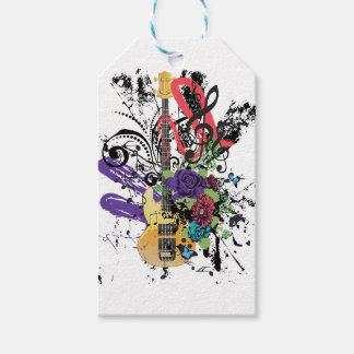 Grunge Guitar Illustration 3 Gift Tags