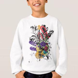 Grunge Guitar Illustration 3 Sweatshirt
