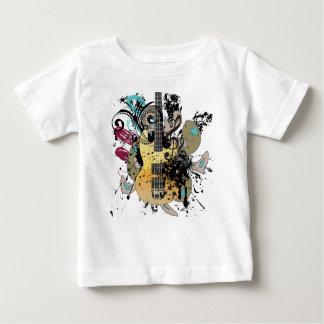 Grunge Guitar Illustration 4 Baby T-Shirt
