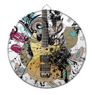 Grunge Guitar Illustration 4 Dartboard