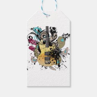 Grunge Guitar Illustration 4 Gift Tags