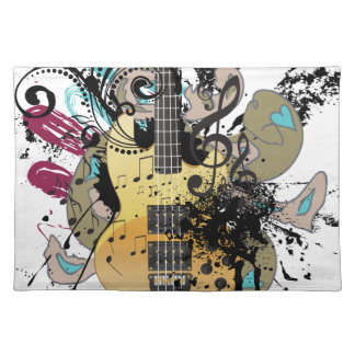 Grunge Guitar Illustration 4 Placemat