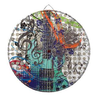 Grunge Guitar Illustration Dartboard